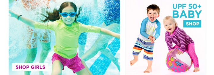 UPF 50+ Swimwear for Girls, Boys, and Baby