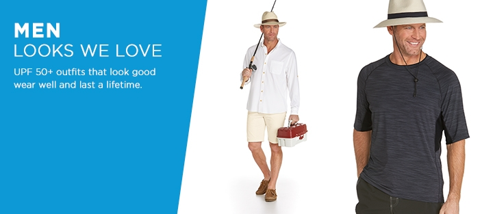 UPF 50+ Men's Sun Protective Outfits