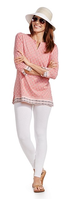 St. Lucia Tunic Top & Leggings Outfit at Coolibar