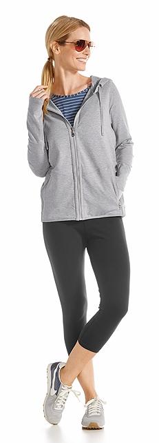 Zip Up Hoodie & Yoga Capri Outfit