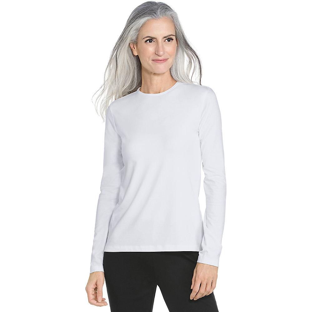 Coolibar upf 50 women 39 s long sleeve t shirt ebay for Women s long sleeve t shirts