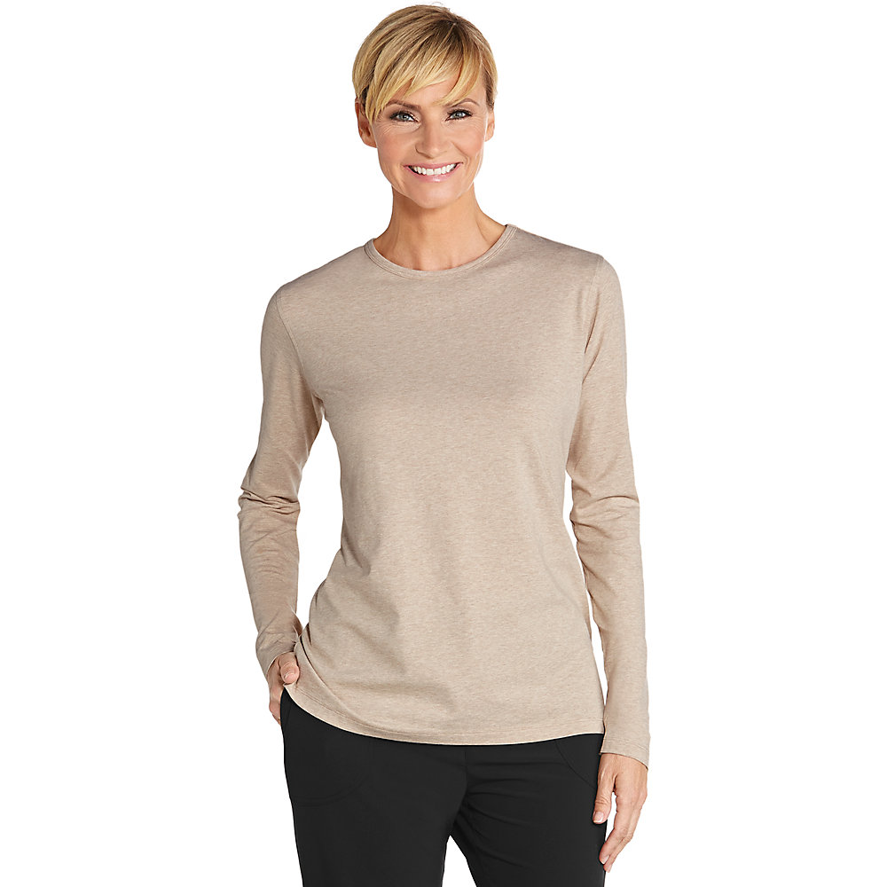 Coolibar upf 50 women 39 s long sleeve t shirt for Women s long sleeve t shirts