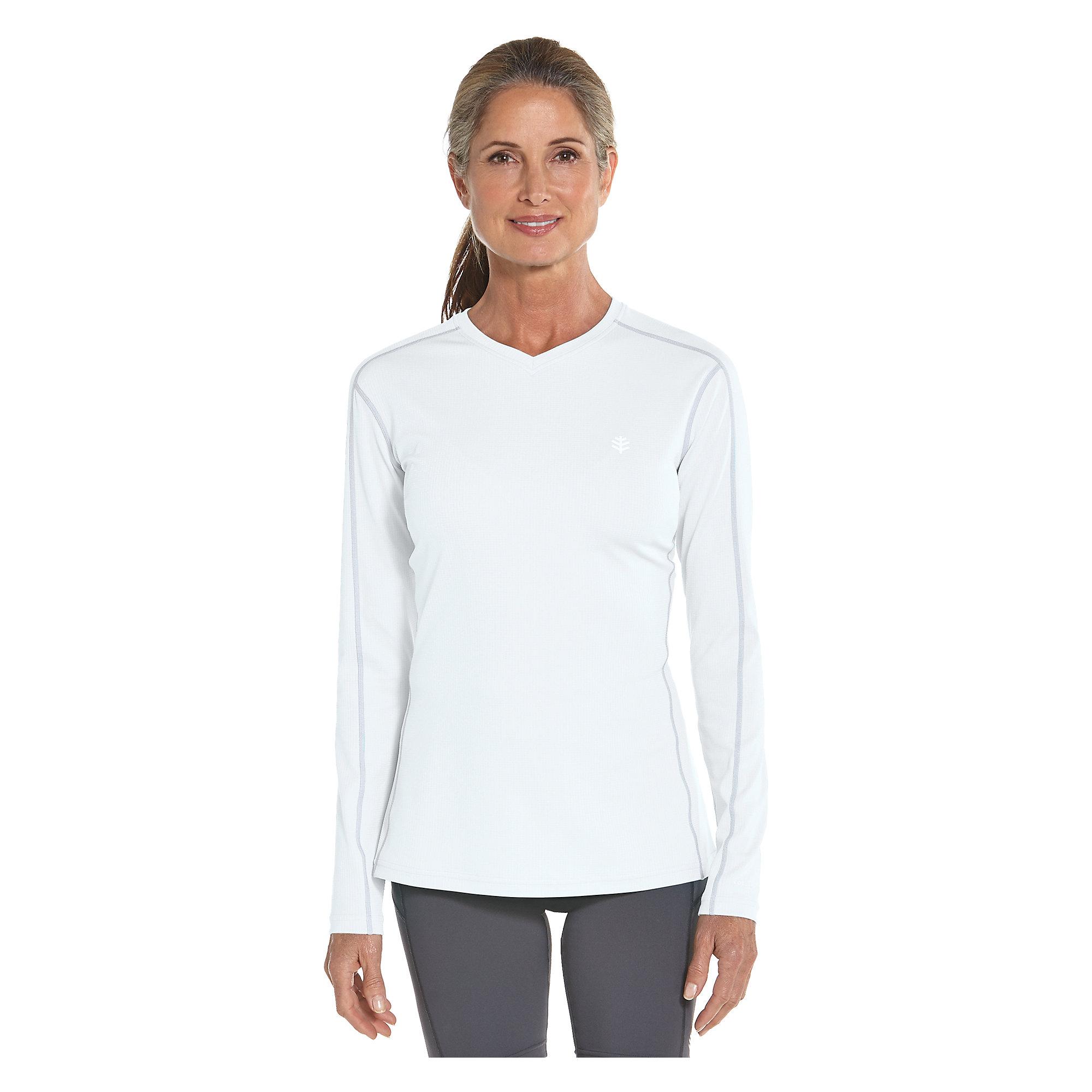 coolibar upf 50 women 39 s long sleeve cool fitness shirt sun