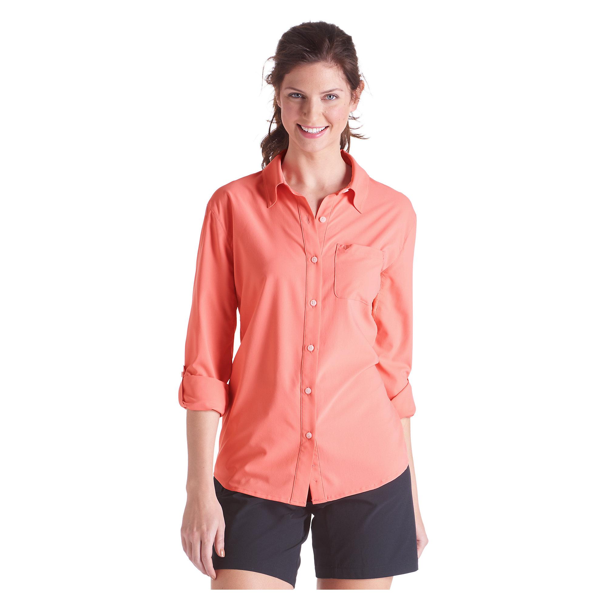 Coolibar upf 50 women 39 s sun shirt sun protective ebay for Custom sun protection shirts