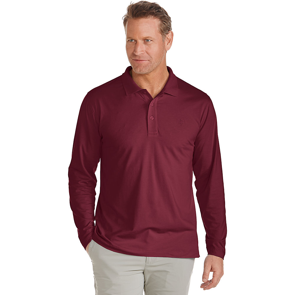 coolibar upf 50 men 39 s long sleeve polo shirt ebay