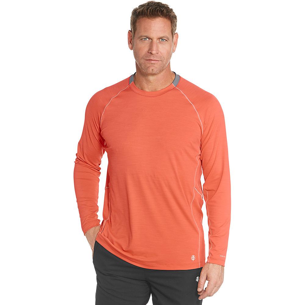 Coolibar upf 50 men 39 s long sleeve workout shirt ebay for Men s upf long sleeve shirt