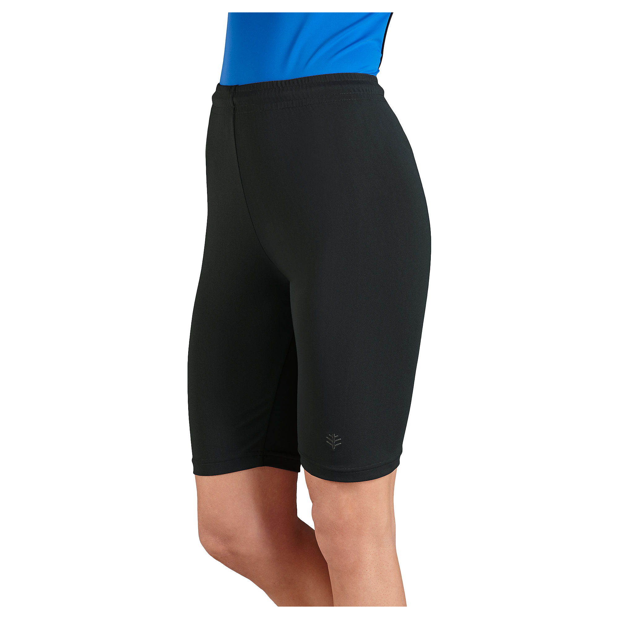 Take your workout off dry land in swim shorts for women made from quick-dry materials. Nylon and polyester blends present a four-way stretch. Many fabrics also feature UV protection with SPF that'll shield you while staying in the sun for long periods.