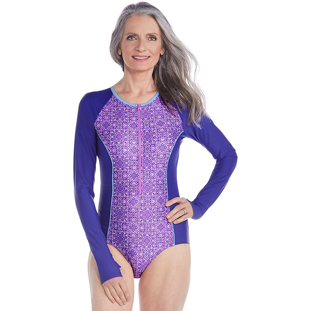 Coolibar UPF 50+ Women's Long Sleeve Swimsuit | eBay