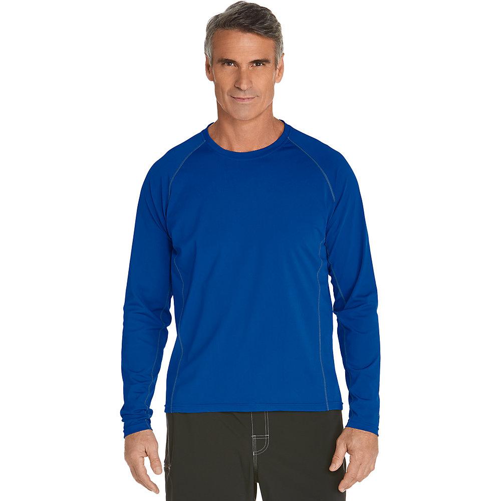 Coolibar upf 50 men 39 s long sleeve swim shirt ebay for Uv shirts long sleeve