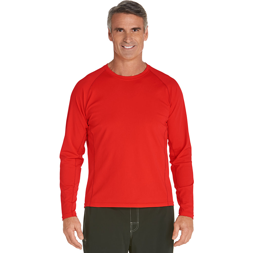 coolibar upf 50 men 39 s long sleeve swim shirt ebay