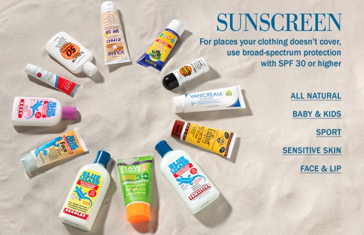 Broad Spectrum SPF 30+ Sunscreens