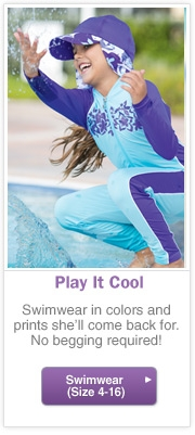 Girl's Sun Protection Swimwear