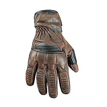 Street & Steel Scrambler Leather Motorcycle Gloves