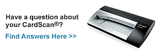 Have questions about the your CardScan(R)? Find Answers Here