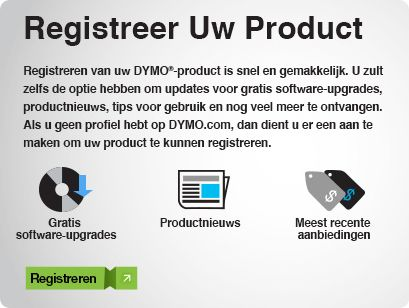 Registreer uw product
