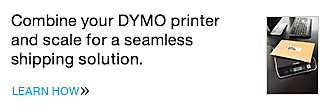 Combine your DYMO printer and scale for a seamless shipping solution.