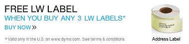 Buy 3 LW Labels Choose 1 for Free. Valid only in the U.S. on www.dymo.com. Offer expires Dec 31, 2014.