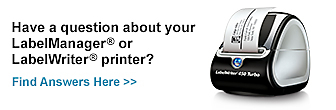 Have a question about your LabelManager or LabelWriter printer?