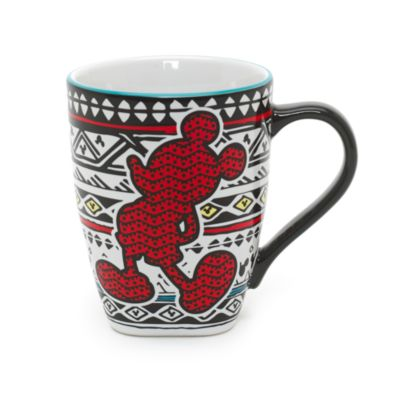 Mickey Mouse Patterned Mug, Disneyland Paris Tribal Collection
