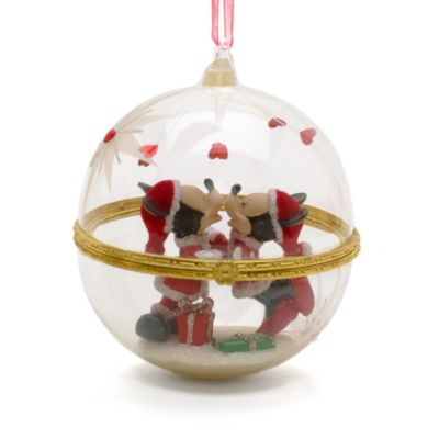 Limited Edition Mickey and Minnie Mouse Christmas Bauble