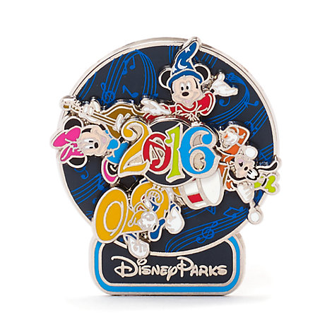 Disneyland Paris 2016 Spinning Pin