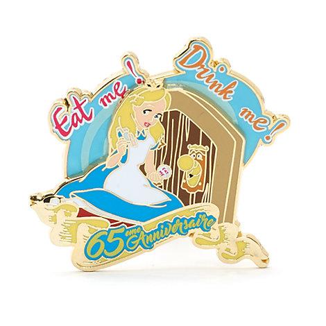 Pin's Alice au Pays des Merveilles en édition limitée 65ème anniversaire, Disneyland Paris