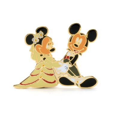 Mickey and Minnie Mouse Wedding Pin