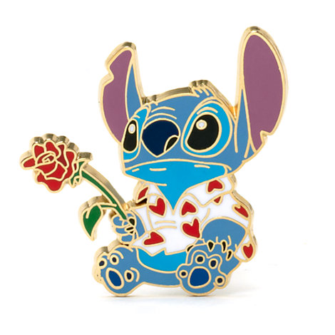 Stitch and Rose Collectible Pin