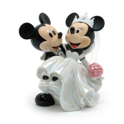 Mickey and Minnie Ceramic Wedding Figurine