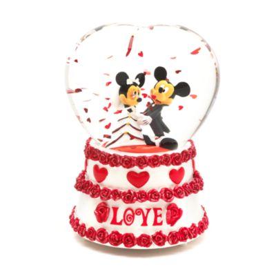 Mickey and Minnie Mouse Wedding Snow Globe