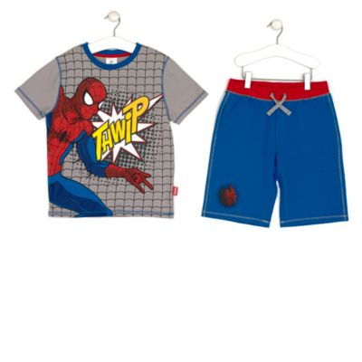 Spider-Man Shorts And T-Shirt Set For Kids