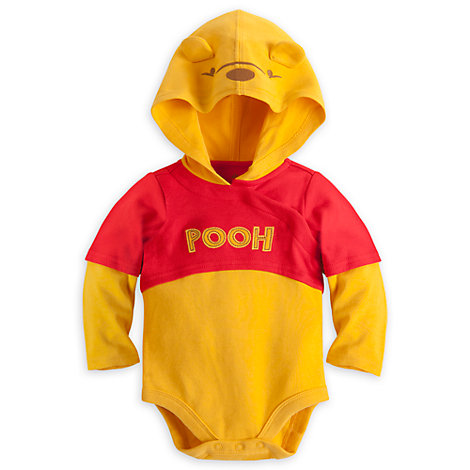 Winnie The Pooh Character Bodysuit With Hood