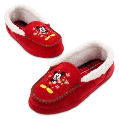 Mickey Mouse Christmas Slippers for Adults
