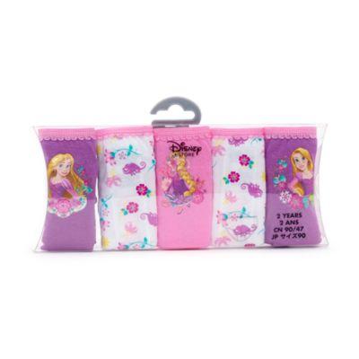 Rapunzel Briefs For Kids, Pack of 5