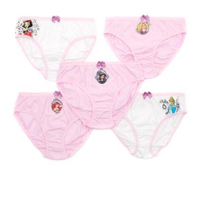 Ensemble de 5 culottes Princesses Disney pour enfants