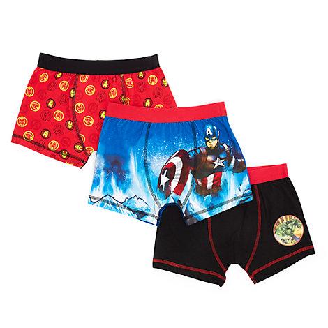 Ensemble de 3 boxers Avengers pour enfants