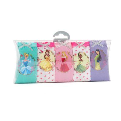 Mutandine rosa bimbi Principesse Disney, confezione da 5
