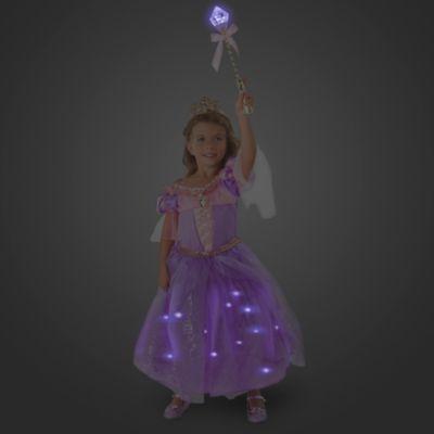 Disfraz infantil de lujo con luces Rapunzel con accesorios