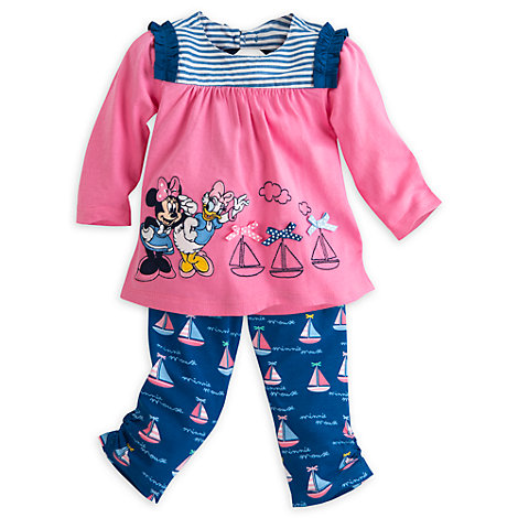 Minnie Mouse Knitted Baby Top And Trousers Set
