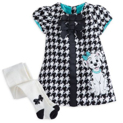 101 Dalmatians Fancy Baby Dress and Tights Set