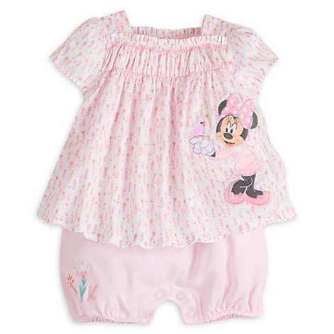Minnie Mouse Layette Baby Romper
