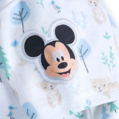 Mickey Mouse Layette Baby Body Suit and Dungaree Set