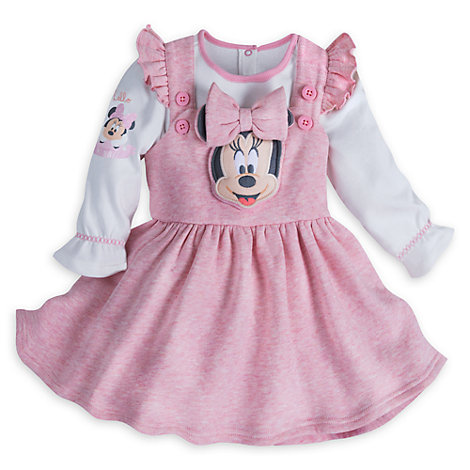 Minnie Mouse Layette Baby Dress and Body Suit Set