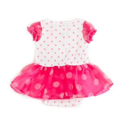 Minnie Mouse White and Pink Baby Costume Body Suit