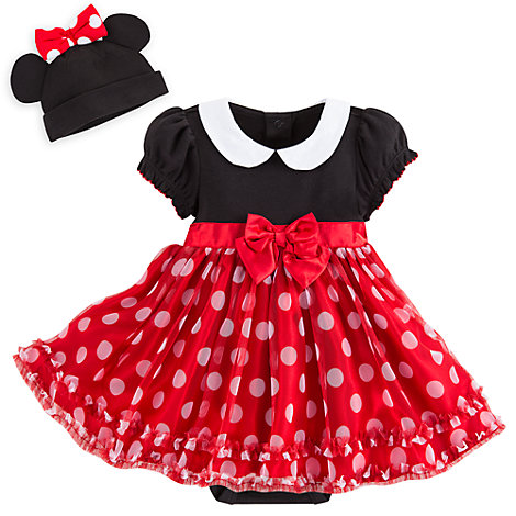 Minnie Mouse Red and Black Baby Costume Body Suit