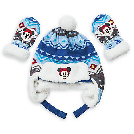 Mickey Mouse Baby Hat and Mittens Set