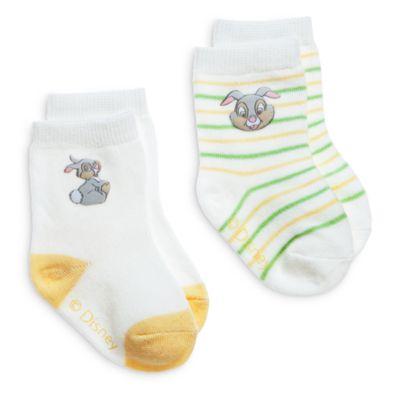 Thumper Layette Baby Socks, 2 Pairs