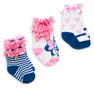 Minnie Mouse Baby Socks, 3 Pairs