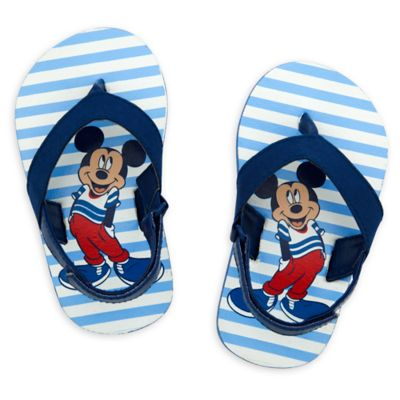 Mickey Mouse Blue Baby Flip Flops