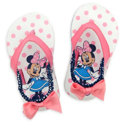 Minnie Mouse Pink Baby Flip Flops